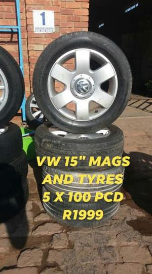 """VW 15 """" Mags + tyres"""