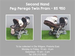 Second Hand Peg Perego Twin Pram