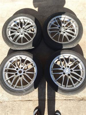 17 Inch TSW Rims with Tyres