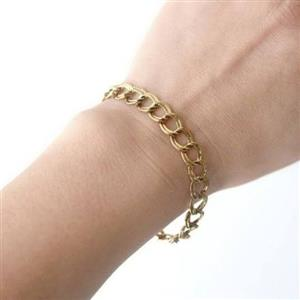9ct Gold Double link bracelet