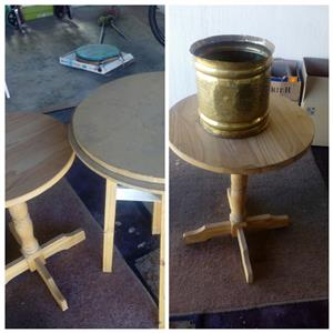 wooden lounge side tables