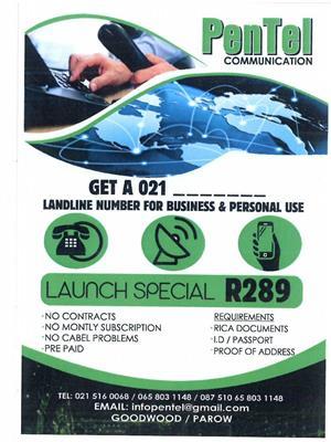 GET A 021 TELEPHONE LANDLINE NUMBER NOW