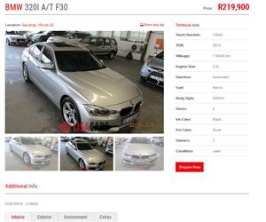 2014 BMW 3 Series 320i Start steptronic
