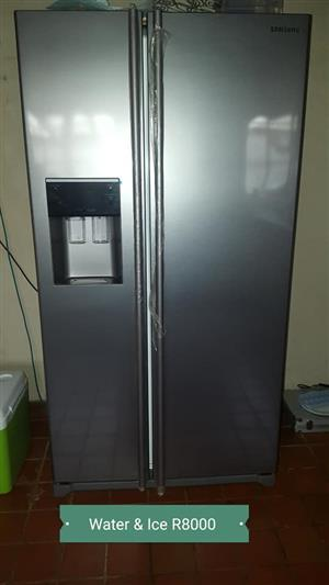 Water and ice dispensing double door fridge