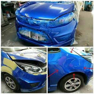 Panel beating and resprays , Scratch and dent repair.