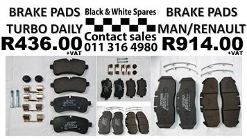 BRAKE PADS TURBO DAILY / MAN / RENAULT