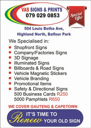 Billboards, Signs, Safety Signs and Printing