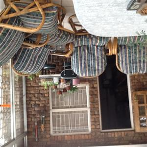 cane patio chairs