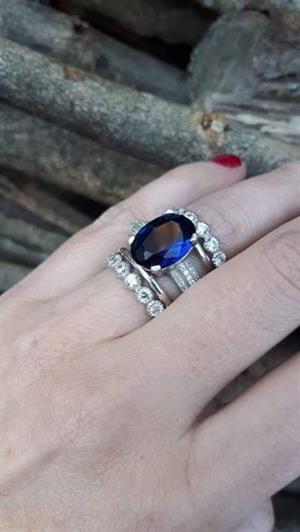 Jenny :Sterling silver 5 piece ring set