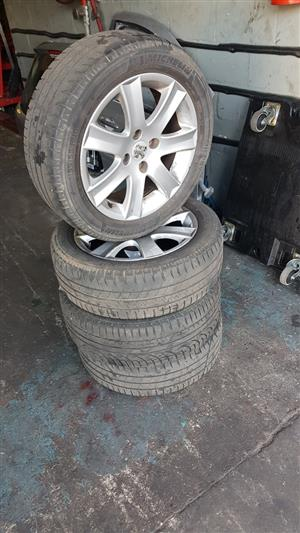 PEUGEOT 207 16 INCH MAGS AND TYRES FOR SALE