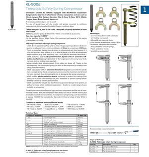 Base Body of Spring Compressor Tool, p/n KL-9002-100