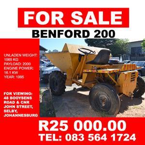 Benford 200 Dumper for Sale