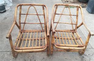 Two Bamboo chairs