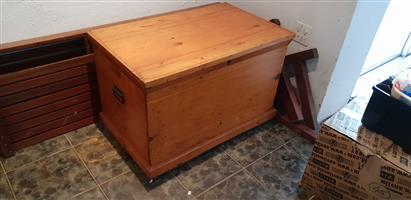 Gorgeous Yellow Wood Chest Antique