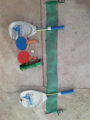 Tennis stuff with balls
