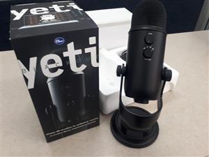 Blue Yeti USB Microphone (Blackout) Yeti USB Multi-Pattern Electret Condenser Microphone