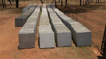 New paving blocks or stepping stones