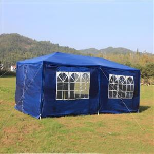 Gazebo Folding Tent Marquee with Side Walls 3 x 6m - Green and Blue Available
