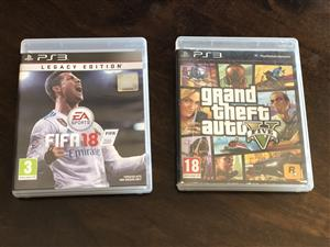 Like New PlayStation 3 Latest Fifa 18 & Grand Theft Auto V (GTA 5) Games for Sale...