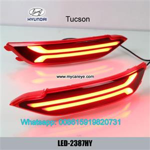 Hyundai Tucson car LED running Bumper Turn Signal Brake Lights