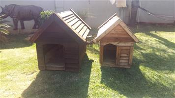 Wood dog kennels