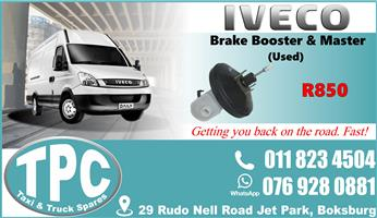 Iveco Brake Booster & Master - Used- Quality Replacement Taxi Spare Parts.