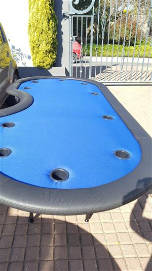 Professional poker table  with dealer cut out as casino