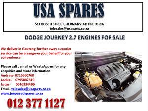 DODGE JOURNEY 2.7 ENGINES FOR SALE / 0616334496