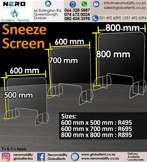Sanitizing Stations/Sneeze Screens