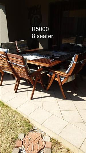 8 Seater wooden patio set