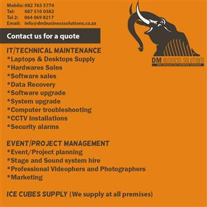 IT services.. Maintenance and Constructions.. Event/Project management