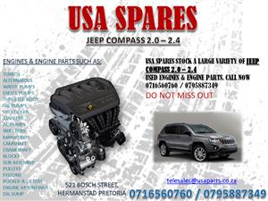 JEEP COMPASS 2.0 – 2.4 USED ENGINES AND ENGINE PARTS @ USA SPARES