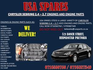 CHRYSLER SEBRING 2.4 – 2.7 USED ENGINES AND ENGINE SPARES