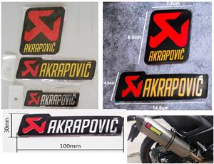 Akrapovic aluminium exhaust badges decals