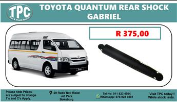 Toyota Quantum Rear Shock Gabriel  - For Sale at TPC