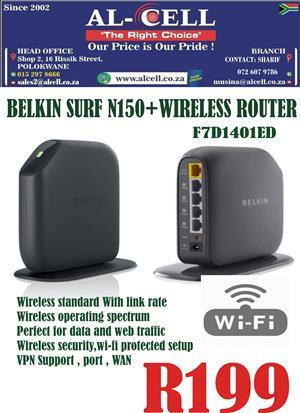 Belkin Surf N150 +Wireless Router
