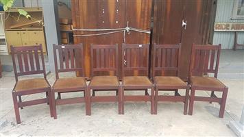 Set 6 Solid Teak Chairs