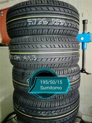 195/50/15  Sumitomo New Tyres for Sale