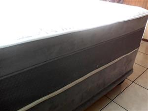 Selling Second hand Queen bed(Restonic) and bar Fridge(Dixion) both for R4000