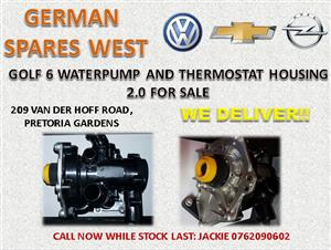 GOLF 6 WATERPUMP AND THERMOSTAT HOUSING 2.0 FOR SALE