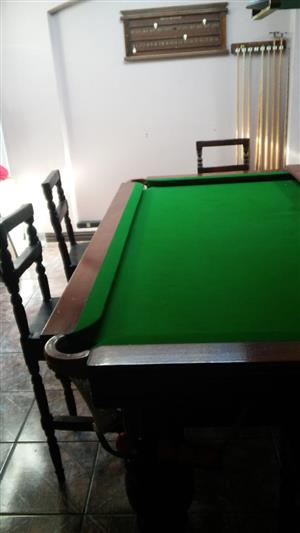 Original Full-sized Snooker Table + Accessories for sale