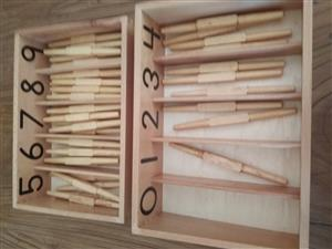 Wooden counting rods with holders