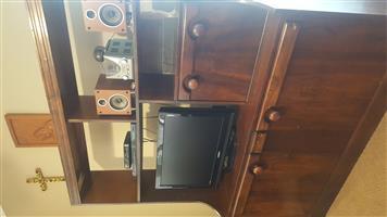VERY URGENT SALE - ANTIQUE IMBUIA WOOD TV CABINET