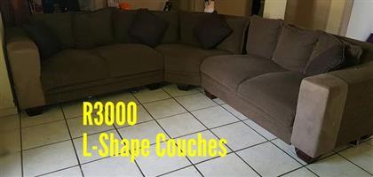 L shape couches