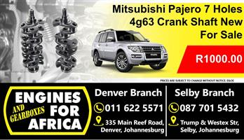 Mitsubishi Pajero 4g63 7 Holes Crank-shaft New For Sale