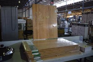 Thick wooden table top boards