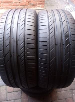 225/55R16 CONTINENTAL (RUNFLAT) TYRES FOR SALE