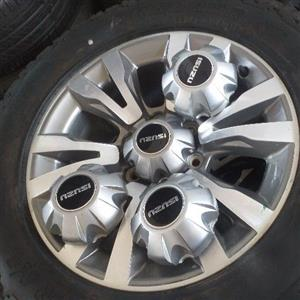 isuzu gray rims and tyres