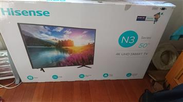 50 inch hisense tv/lcd damaged