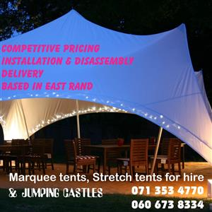 Marquee, Stretch tents and jumping castles for hire cheap